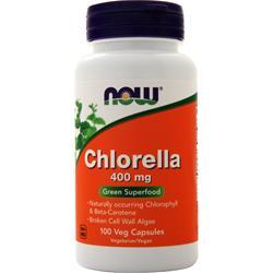 Now Chlorella (400mg) 100 vcaps
