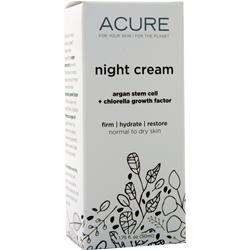 Acure Night Cream 1 oz