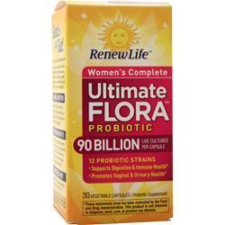 Renew Life Ultimate Flora Probiotic - Women's Complete 90 Billion 30 vcaps
