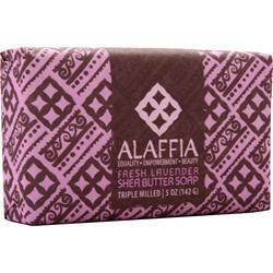 Alaffia Triple Milled Shea Butter Soap Fresh Lavender 5 oz