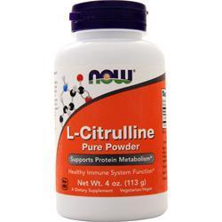 Now L-Citrulline (100% Pure Powder) 4 oz