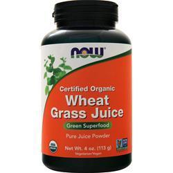Now Organic Wheat Grass Juice 4 oz