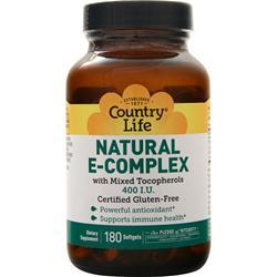Country Life Natural E-Complex (400IU) 180 sgels