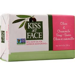 Kiss My Face Olive Oil Bar Soap Olive and Chamomile 8 oz