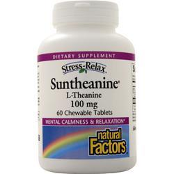 Natural Factors Suntheanine (L-theanine) (chewable) 60 tabs