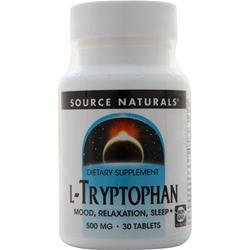 Source Naturals L-Tryptophan (500mg) 30 tabs