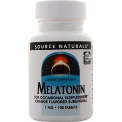 Source Naturals Melatonin - Sublingual (1mg) Orange 100 tabs