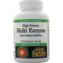 Natural Factors Multi Enzyme High Potency 120 caps