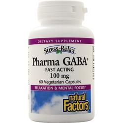 Natural Factors Pharma GABA 60 vcaps