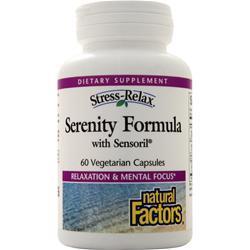 Natural Factors Stress-Relax Serenity Formula with Sensoril 60 vcaps