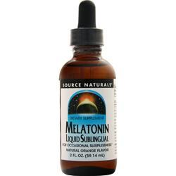 Source Naturals Melatonin Liquid Sublingual Natural Orange 2 fl.oz