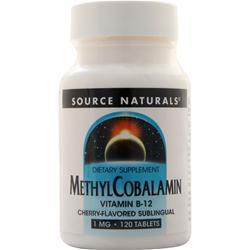Source Naturals Methyl Cobalamin (1mg) Cherry 120 tabs
