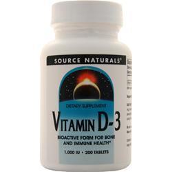 Source Naturals Vitamin D-3 (1000IU) 200 tabs