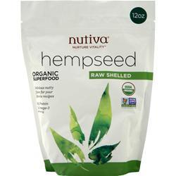 Nutiva Organic Shelled Hempseed 12 oz