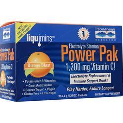Trace Minerals Research Electrolyte Stamina Power Pak Orange Blast 32 pckts