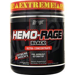 Nutrex Research Hemo Rage Black Ultra Concentrate Fruit Punch 7.8 oz