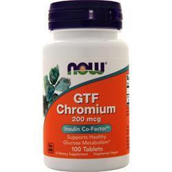 Now GTF Chromium (200mcg) 100 tabs