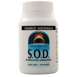 Source Naturals S.O.D. Superoxide Dismutase 180 tabs