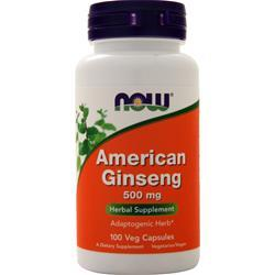 Now American Ginseng (500mg) 100 caps