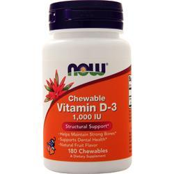 Now Chewable Vitamin D-3 180 tabs