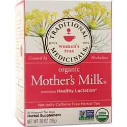 Traditional Medicinals Organic Herbal Tea Mother's Milk 16 pckts