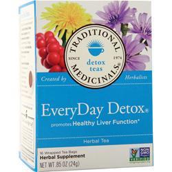 Traditional Medicinals EveryDay Detox Herbal Tea 16 pckts