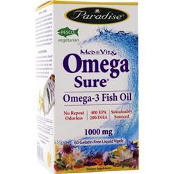Paradise Herbs Med-Vita Omega-3 (1000mg) 60 sgels