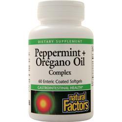 Natural Factors Peppermint + Oregano Oil Complex 60 sgels