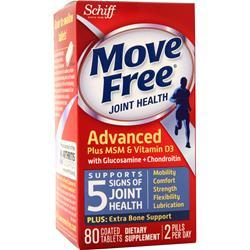 Schiff Move Free Total Joint Health - Advanced Plus MSM & Vitamin D3 80 tabs