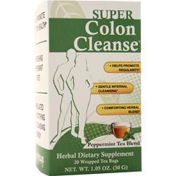 Health Plus Super Colon Cleanse Peppermint Tea Blend 20 pckts
