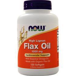 Now High Lignan Flax Seed Oil (1000mg) 120 sgels