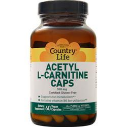 Country Life Acetyl L-Carnitine Caps (500mg) 60 vcaps