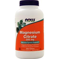 Now Magnesium Citrate (200mg) 250 tabs