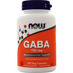 Now GABA (750mg) 100 vcaps