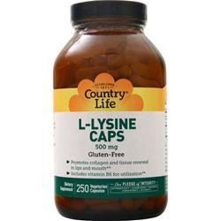 Country Life L-Lysine  (500mg) 250 vcaps