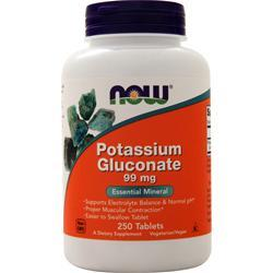 Now Potassium Gluconate (99mg) 250 tabs