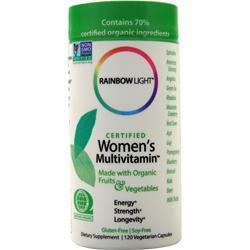 Rainbow Light Certified Organics - Women's Multivitamin 120 vcaps