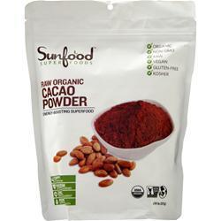 Sunfood Chocolate Cacao Powder 8 oz