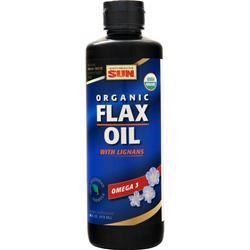 Health From The Sun Organic Flax Oil with Lignans 16 fl.oz