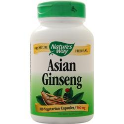 Nature's Way Asian Ginseng (formerly Korean Ginseng Root) 100 vcaps