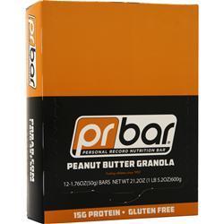 Pr Nutrition PR Bar - Personal Record Nutrition Bar Peanut Butter Granola BEST BY 7/17/19 12 bars