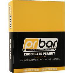 Pr Nutrition PR Bar - Personal Record Nutrition Bar Chocolate Peanut BEST BY 6/18/17 12 bars