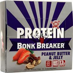 Bonk Breaker World's Best Energy Bar - High Protein Peanut Butter and Jelly 12 bars