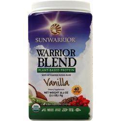 SunWarrior Warrior Blend - Raw Vegan Protein Vanilla 1 kg