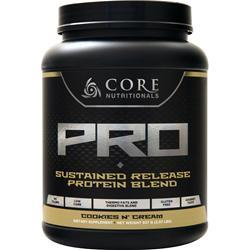Core Nutritionals Core Pro - Advanced Sustained Release Protein Blend Cookies & Cream 2.07 lbs