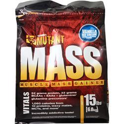 Fit Foods Mutant Mass - Muscle Mass Gainer Vanilla Ice Cream 15 lbs