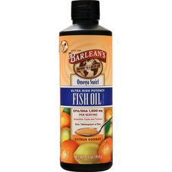Barlean's Omega Swirl Fish Oil - Ultra High Potency Citrus Sorbet 16 fl.oz