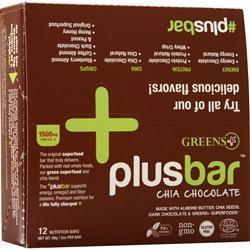 Greens Plus Omega 3 Chia Energy Bar Chocolate 12 bars
