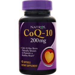 Natrol Coenzyme Q-10 (200mg) 45 sgels