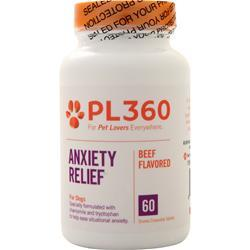 PL360 Anxiety Relief for Dogs Liver Flavored 60 tabs